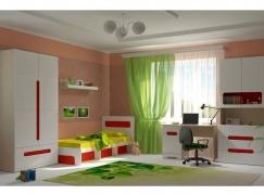 Детская Палермо-Юниор с красными вставками