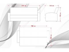 Диван Галант Д3 с подлокотниками Marco polo titanium-Кожзам Рикс Грей
