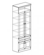 Гостиная Инна Шкаф для посуды 612 800х368х2248. Полки - стекло