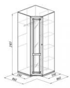 Гостиная Шерлок 10 Шкаф угловой зеркало 860х860х2107