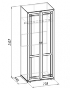 Гостиная Шерлок 12 Шкаф для одежды 798х590х2107