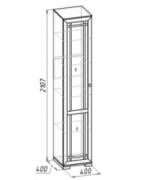 Гостиная Шерлок 13 Шкаф для посуды 400х400х2107