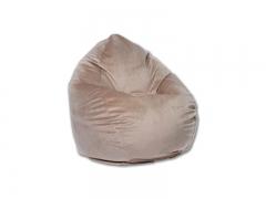 Кресло-мешок Макси велюр бежевый