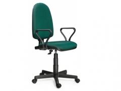 Кресло офисное Prestige Lux gtpPN S32 ткань зелено-черная