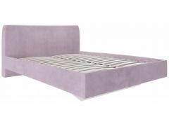 Кровать 1600 с мягкой обивкой Бискотти ИП 001.01-01 велюр розовый