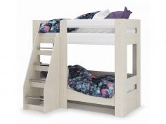 Кровать 2-х ярусная Симба дуб белфорд-белый глянец