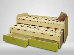 Кровать 2-х ярусная выкатная Антошка лайм