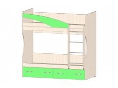 Кровать 2х ярусная Буратино Зеленый