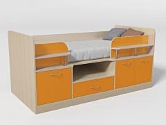 Кровать-чердак Уголок школьника № 7 манго
