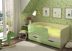 Кровать детская Алиса КР-812 1600 Белфорт/Салат