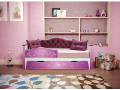Кровать детская Ноктюрн 01.34.180 Темно-ягодный