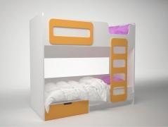 Кровать двухэтажная Брусника ДМ-К2-1-1 Шафран