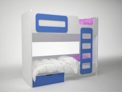 Кровать двухэтажная Брусника ДМ-К2-1-1 Синяя