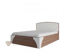 Кровать двухспальная 1400 Лагуна-7 с пуговицами