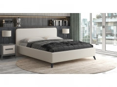 Кровать двуспальная Миа серо-бежевый