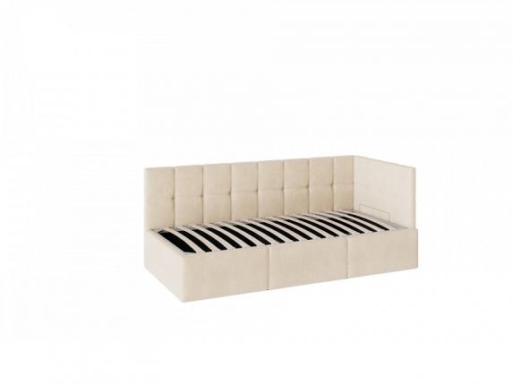 Кровать Оттава 900 с ПМ ткань бежевая