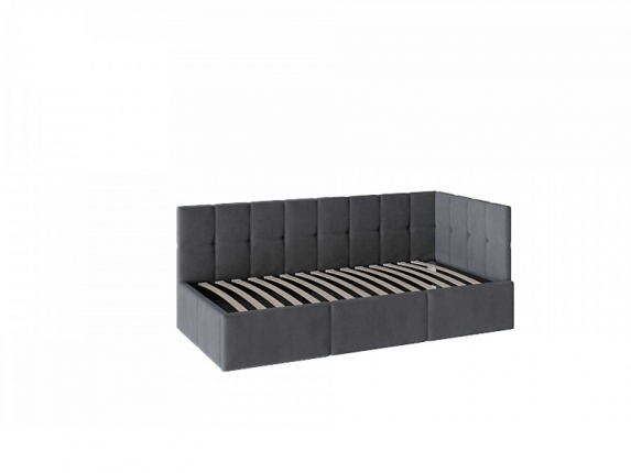Кровать Оттава 900 с ПМ ткань темно-серая