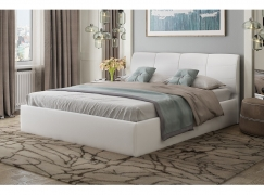 Кровать РИВЬЕРА белая 1600 с подъемным механизмом