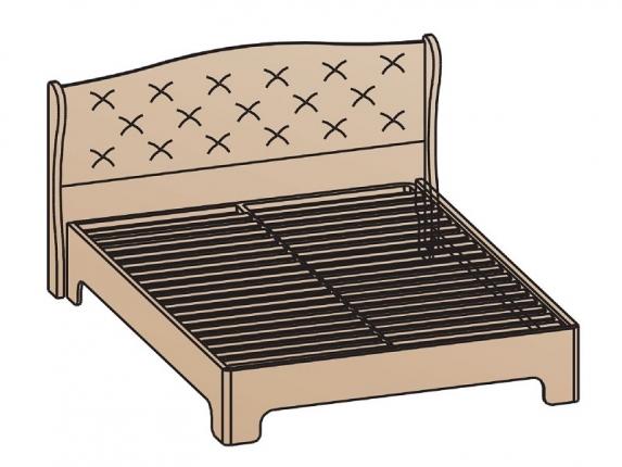 Кровать с ортопедическим основанием КР-1703 Эйми МДФ Бодега белая-патина Серебро