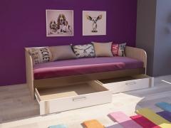 Кровать с ящиками Волкер М13