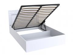 Кровать Тиффани Эко Белый снег 1400 с подъемным механизмом