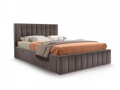 Кровать Вена вариант 3 Коричневый велюр