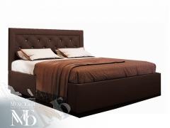Кровать Версаль 1600 с настилом кожзам шоколад