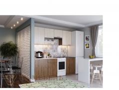 Кухня Магнолия 1700 гикори темный-гикори светлый