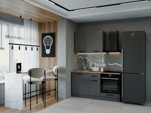 Кухонный гарнитур Антрацит 1600