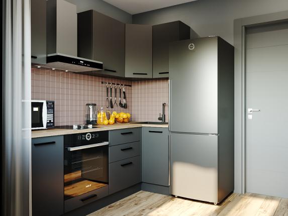 Кухонный гарнитур угловой Антрацит 1000х2200