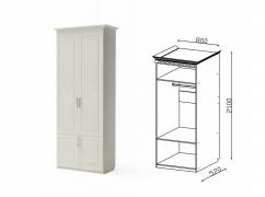 Шкаф 2-х дверный для платья НГ-5 Гармония-6