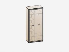 Шкаф 2х дверный ШК-1903 Эйми МДФ Бодега белая-патина Серебро