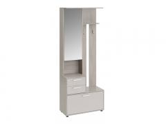 Шкаф-секция комбинированная тип 1 Витра Ясень шимо-Бежевый фон глянец