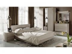 Спальня Мишель Ясень шимо-Бежевый фон глянец с рисунком