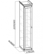 Спальня Монпелье Шкаф для белья 1 465х633х2252