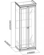 Спальня Монпелье Шкаф для одежды 2 с зеркалом 864х633х2252