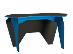 Стол компьютерный Базис 2 Черный-Светло-синий