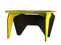 Стол компьютерный Базис 2 Черный-Желтый