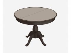 Стол раздвижной Фабрицио-1 Glass венге-стекло молочное